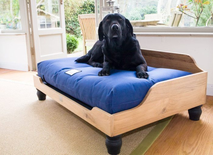 Berkeley Raised Wooden Oak Dog Bed